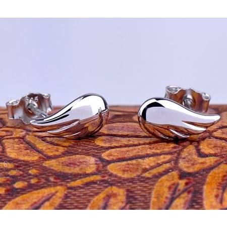 柏妃 925纯银韩版女耳钉 天使之翼B079600