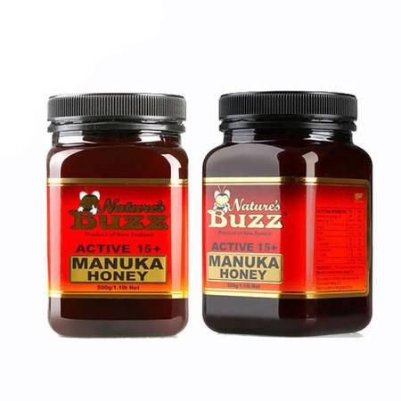 6折-纽蜂宝 Natures Buzz Active 15+马奴卡蜂蜜 2瓶装(不含关税)