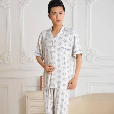 金丰田 睡衣 男士夏季短袖清凉睡衣家居服套装 1745
