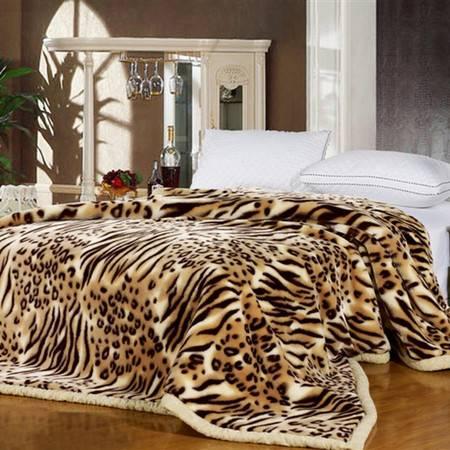伊莲家纺PISCES双层双面拉舍尔毯--狂野豹纹-YT-12SMT0005