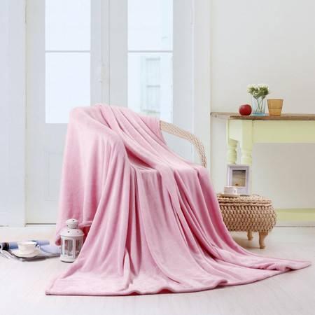 伊莲家纺PISCES 舒暖纯色珊瑚绒毯--粉色 YL--13SHR0013M
