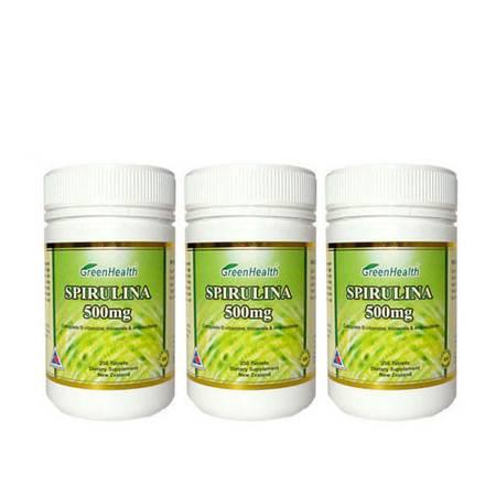 Greenhealth天然螺旋藻片 3瓶装