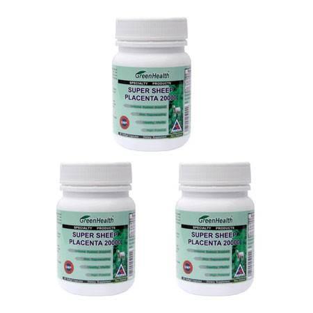 Greenhealth高含量羊胎盘胶囊 3瓶装