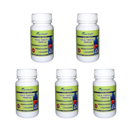 Greenhealth水飞蓟护肝素胶囊(保肝灵) 5瓶装