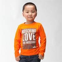 江南霖童装男童春秋款中大童全棉长袖T恤LOVE印花JAXZ0117