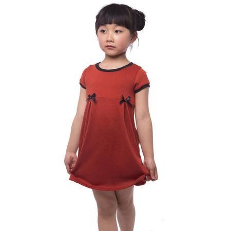 江南霖童装女童夏款中大童针织短袖连衣裙七色可选JBXZ4110