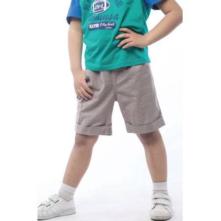 江南霖童装 男童夏款全棉短裤百搭英伦休闲风五分裤JBXS3607