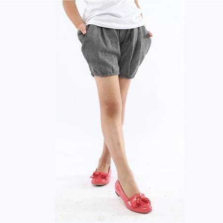 江南霖童装女童双层纱抽摺小短裤JBXS3606