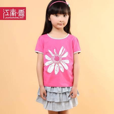 江南霖童装女童全棉短袖T恤蛋糕裙套装TJCXZ0120