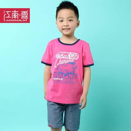 江南霖男童全棉短袖T恤短裤套装运动两件套TJCXZ0105