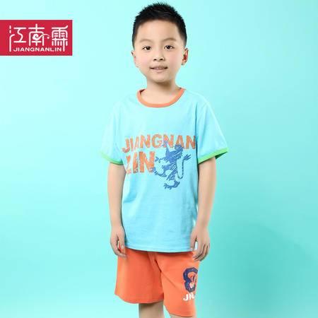 江南霖童装夏季新品男童全棉短袖T恤短裤运动套装TJCXZ0107