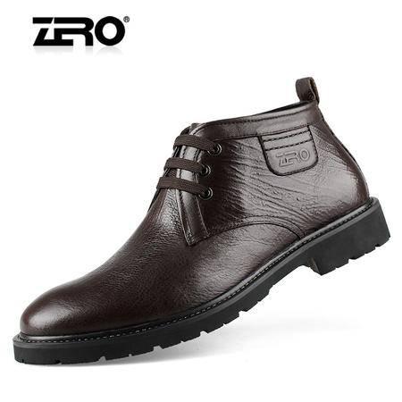 ZERO意大利零度头层牛皮真羊毛内里保暖日常男士棉鞋 93072