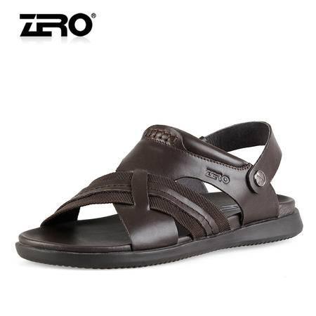 Zero/零度 男士 头层牛皮 时尚休闲皮凉鞋 99268