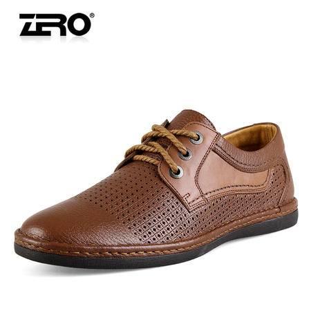 Zero/零度 男士 头层牛皮 时尚休闲皮鞋 99335