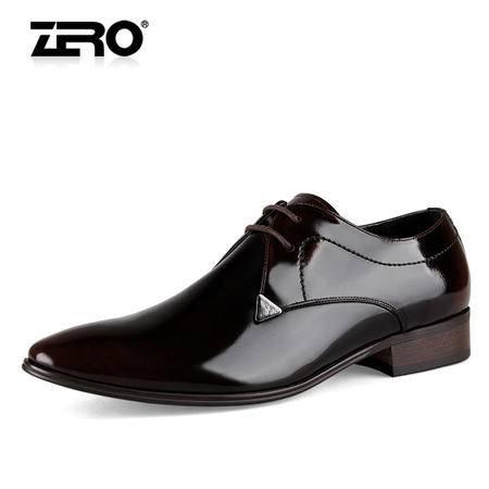 Zero/零度 男士 头层牛皮 商务正装皮鞋 93065