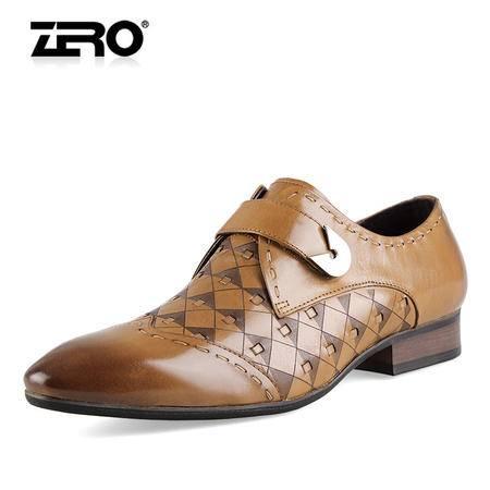 Zero/零度 男士 头层牛皮 商务正装皮鞋 99773