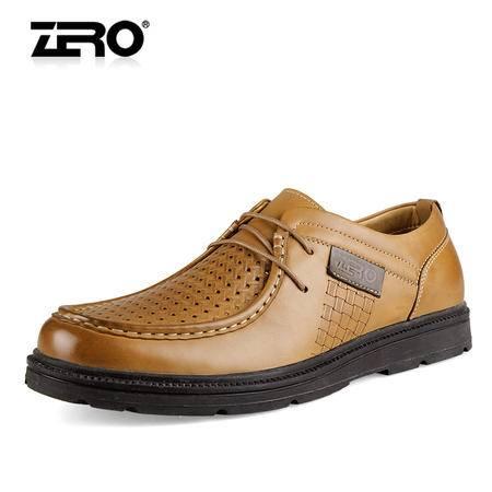 Zero/零度 男士 头层牛皮 商务休闲皮鞋 99639