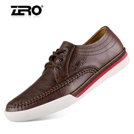 Zero/零度 男士 头层牛皮 时尚休闲皮鞋 96025