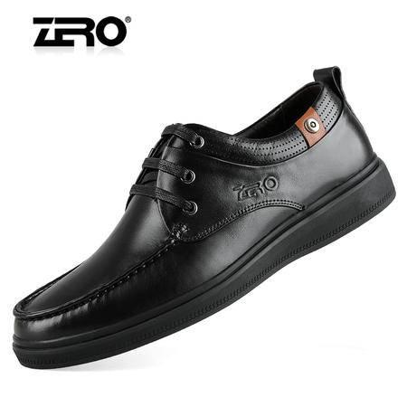 Zero/零度 男士 头层牛皮 商务休闲皮鞋 时尚休闲鞋 99886