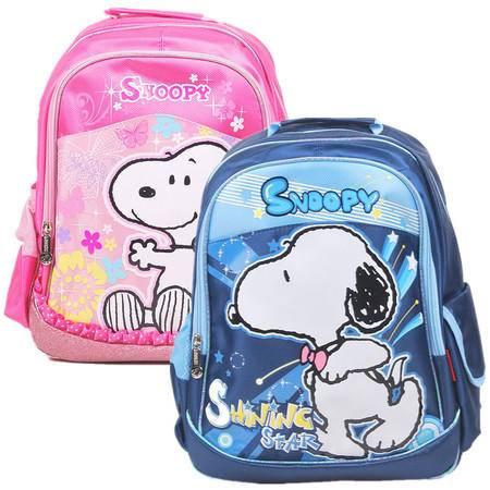 史努比最新款儿童小学生书包 双肩背包 B0015