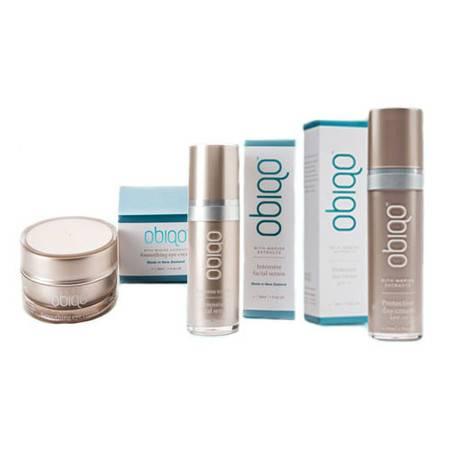 Obiqo防晒润肤霜SPF15+活肤精华素+柔滑眼霜 套装