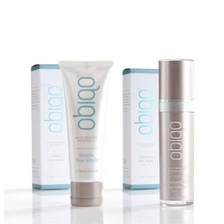 Obiqo防晒日霜SPF15+Obiqo轻柔洁面磨砂 套装