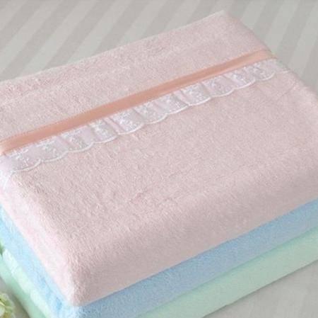 星澜家纺  竹纤维蕾丝毛巾被