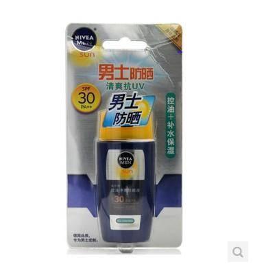 妮维雅男士控油净爽防晒液SPF30PA++  50g