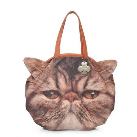 Artmi韩版猫咪图案大包时尚包手提包AET001