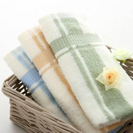 孚日洁玉正品毛巾 100%纯棉色织多臂素色毛巾 全棉时尚情侣面巾