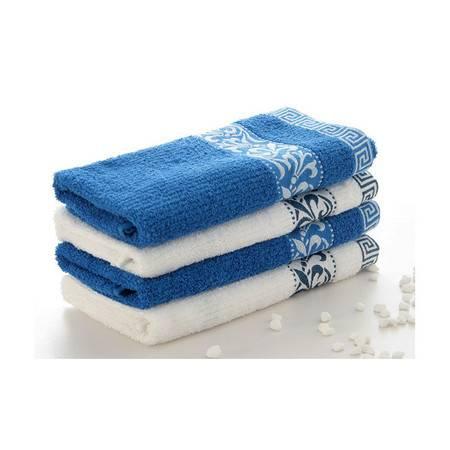 孚日洁玉正品 青花瓷毛巾 柔软吸水面巾 创意可爱情侣纯棉毛巾 白色
