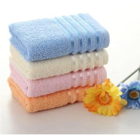孚日洁玉正品 100%纯棉素色多臂毛巾 加厚舒适柔软吸水洗脸面巾
