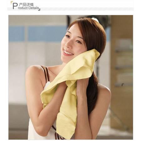 洁玉 【孚日洁玉】 超强吸水 超细纤维毛巾 单独包装 神奇干发巾 YM8粉30x80