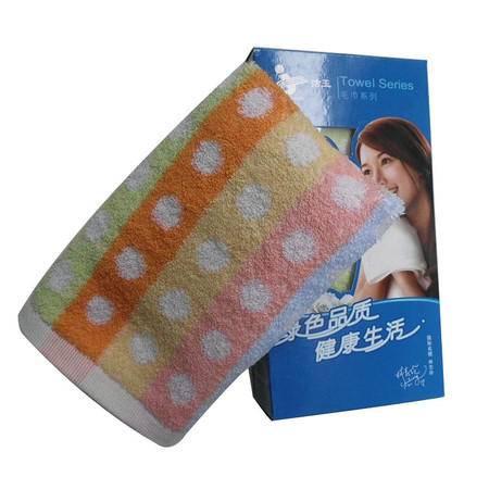 孚日洁玉圆点毛巾纯棉单条装礼盒FR04-011FLH