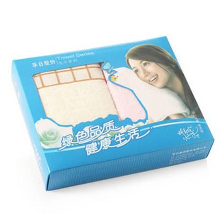 孚日洁玉最美毛巾两条礼盒装 JY-1021F-LH(团购)