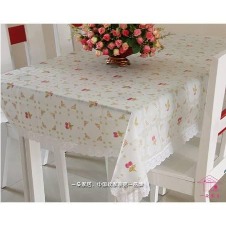 一朵欧盟标准 塑料防滑桌布 餐布 pvc透明台布桌布EVA桌布