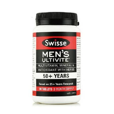 Swisse Mens 50+ Ultivite 50岁以上男士复合维生素 90粒 X 3