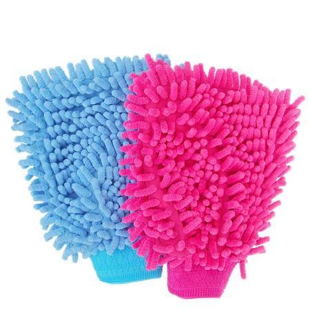 珊瑚虫洗车手套 防止划痕双面大号洗车