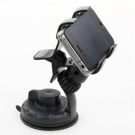 舜威 车载双夹子手机架 车用旋转手机座导航架