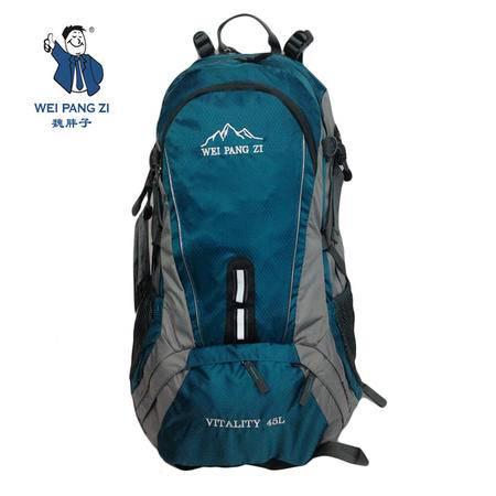 魏胖子正品专柜 休闲运动旅行包 户外双肩背包 带防雨罩 3753