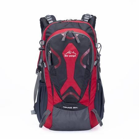 魏胖子正品专柜 中国风脸谱外形小型户外专业登山包 双肩旅行背包 骑行包 徒步旅行包30L  2776