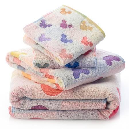 迪士尼 Disney 纯棉 浴巾 缤纷提花
