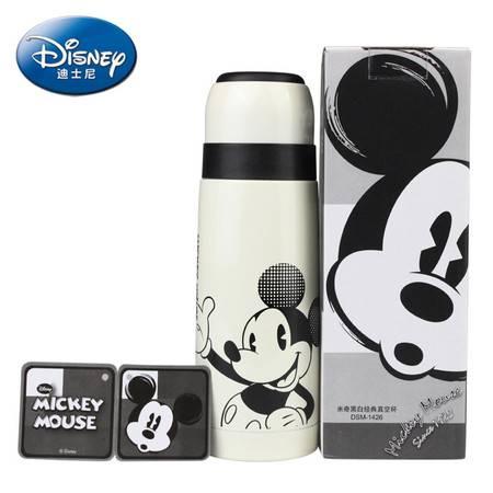 迪士尼Disney米奇黑白经典真空瓶/保温杯 儿童男女通用不锈钢保温杯