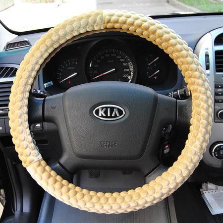 安美弛 汽车方向盘套 丝绒浮点方向盘套车用把套AM-2150