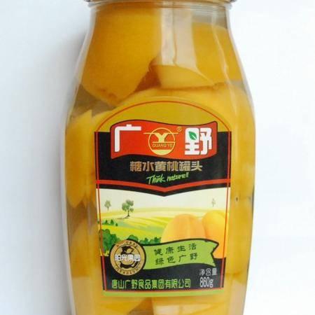 【河北特产】广野黄桃罐头860g×12