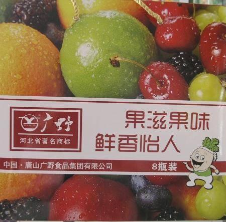 【河北特产】广野果滋果味268g*8瓶