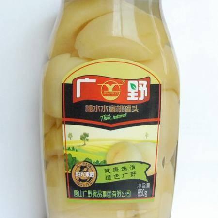 【河北特产】广野水蜜桃罐头860g×12