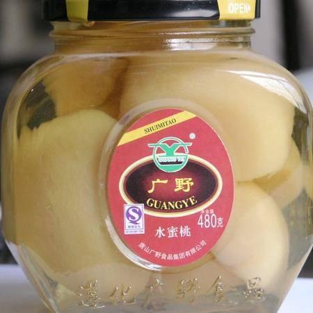 【河北特产】广野黄桃罐头什锦罐头480g*12