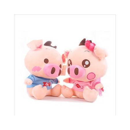 iloop讨喜的可爱两色调皮猪 女猪 男猪30cm