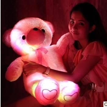 iloop音乐发光泰迪熊抱抱 公仔布娃娃毛绒玩具生日礼物创意礼品送女生
